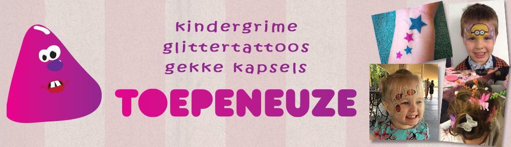 Toepeneuze: kindergrime - glittertattoos - gekke kapsels